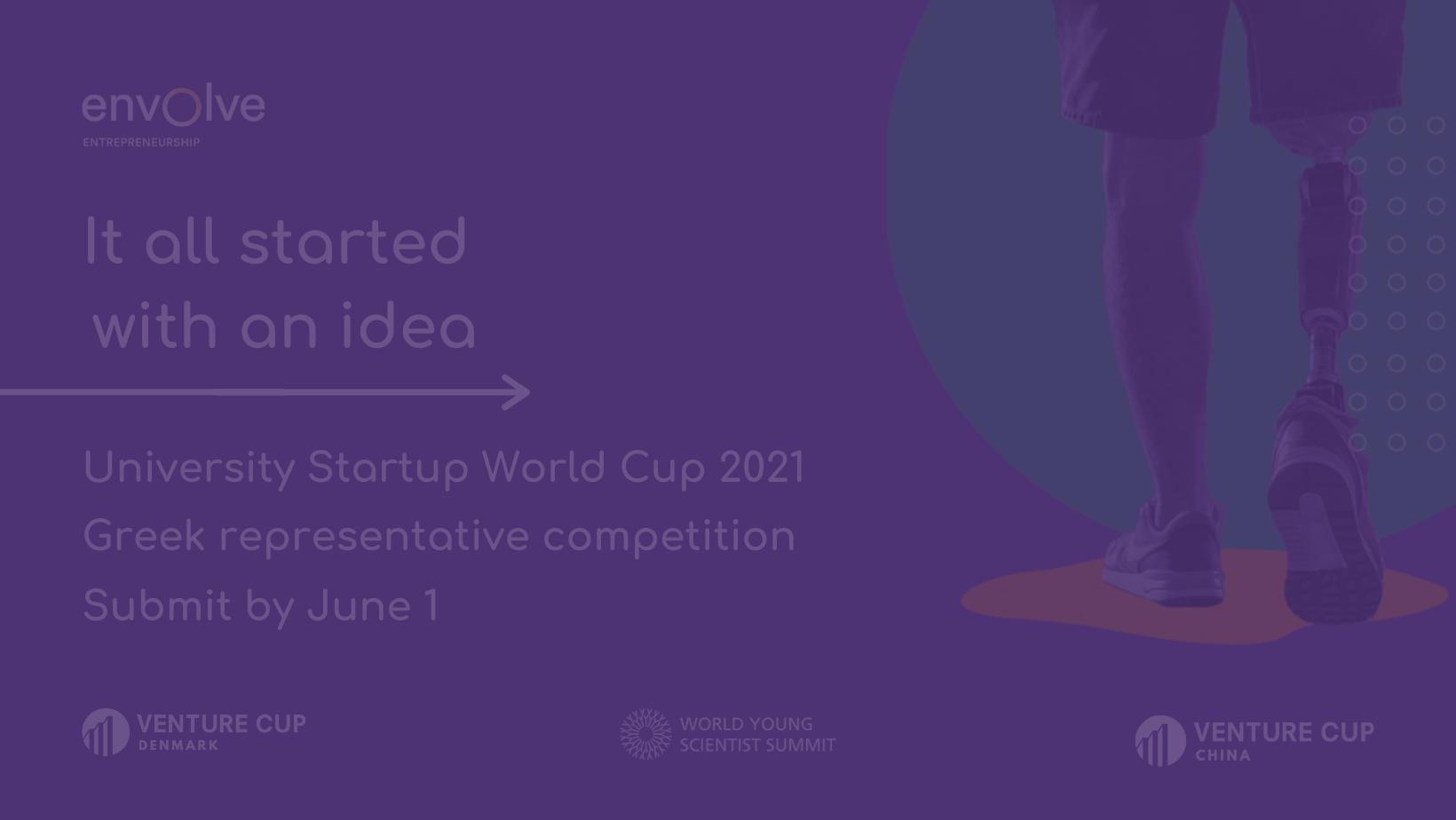 University Startup World Cup 2021 – Η ανάδειξη της Ελληνικής εκπροσώπησης θα γίνει από το Envolve Entrepreneurship
